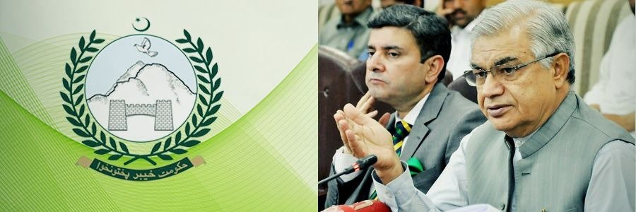 Khyber Pakhtunkhwa Minister for Finance Mr. Abdur Rauf Khan addressing Post Budget (Authorization of 4 months expenditure 2018) Press Conference