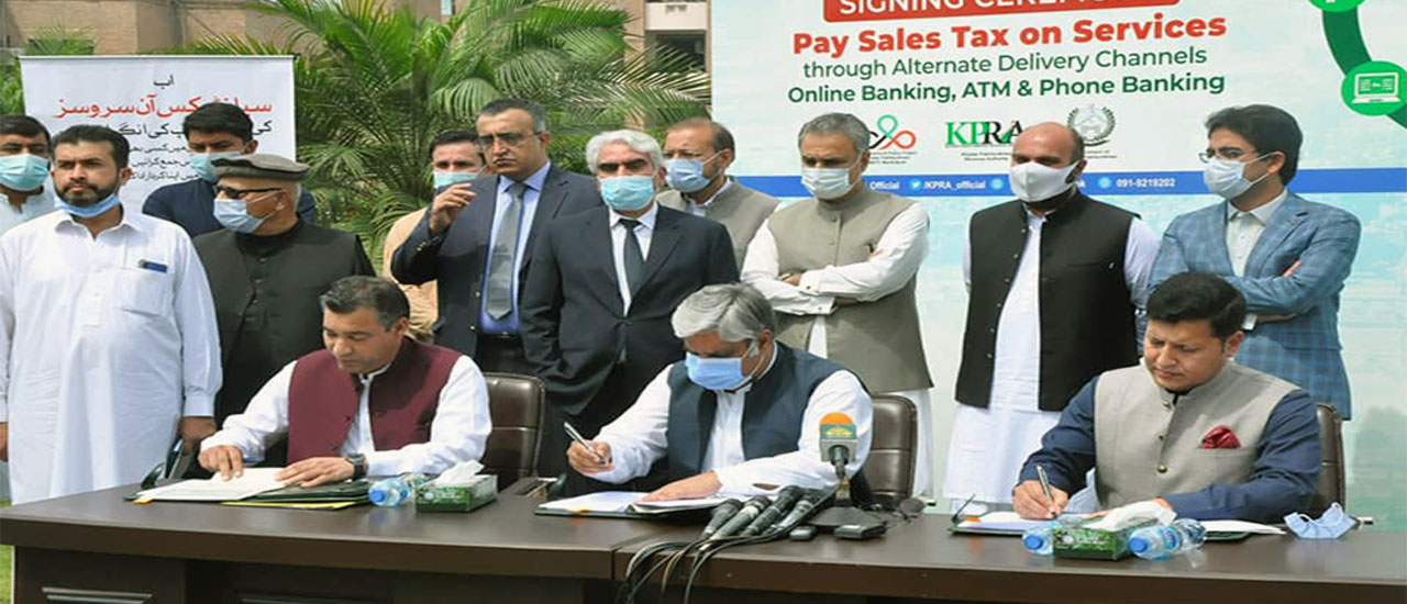 Ceremony of online payment of sales tax on services for the people of Khyber Pakhtunkhwa